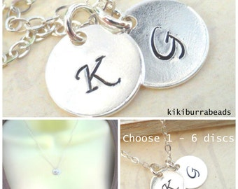 Personalized Custom Initial Necklace, Best Friends Necklace, Mothers Necklace, Sister's Necklace, Layering Necklace, Monogram Necklace