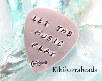 Hand Stamped Guitar Pick,Plectrum,Gift For Dad,Fathers Day Gift,Husband Gift,Grandfather Gift,Uncle Gift,Brother