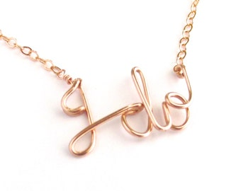 Wedding Day I do necklace. Rose Gold I do Necklace.