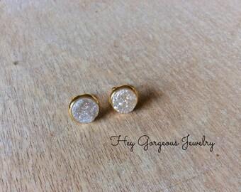Angel Aura druzy studs-druzy studs-druzy-stud earrings-valentines gift