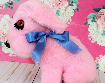 Vintage pink Puppy Dog Plush Stuffed Animal toy