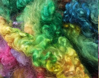 Rainbow Dyed English Leicester Wool