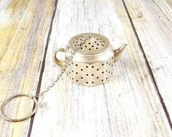 Vintage Sterling Tea Infuser, Lovely Little Teapot Design