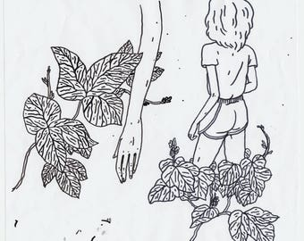 Leaf Drawing from Myself as Me and You
