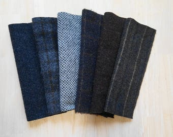 Black -Brown - Grey -  Felted Wool Perfect for Rug Hooking, Quilting, Applique, and Sewing by Quilting Acres
