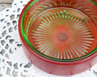 Beautiful Brown and Green Glass Dish