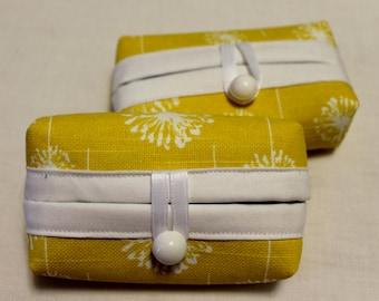 Tissue Holder-Yellow and White Dandelion Print