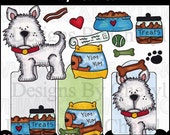 Tiny Terrier Clipart Collection - Immediate Download