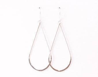 Raindrop earrings - sterling silver lightweight drop dangles