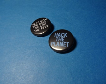 Hackers Pinback Button Set (or Magnet)