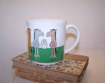 Sandra Boynton Mug, Horses and Sheep, Horse Coffee Mug, Nag Nag Ewe Mug, Constant Loving Ewe, Horse Tea Cup, Vintage, Boynton Illustration