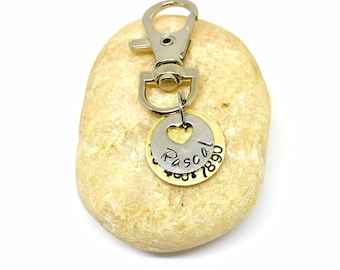 Handstamp Tag for puppies - Personalized Dog Tag - Pet ID Tag