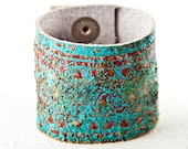 Turquoise & Red Cuff Bracelet Leather Jewelry For Women