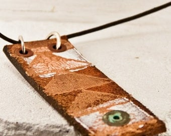 Rustic Necklace Primitive Jewelry Metal Patina Jewellery Bohemian Fashion Accessories OOAK