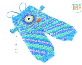 Silly  Creatures Alien Monster Crochet Pants for 2T -  Ready to Ship