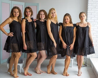 Cute Black Eyelet Nighties for every woman who loves a comfortable sleep