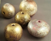 Faux Raku Polymer Clay Beads