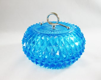 Mid Century Glass Powder Dish/ Candy Dish