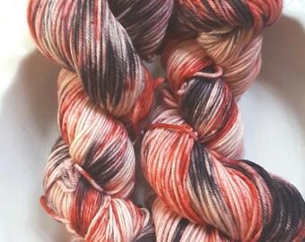 Mother Isn't Quite Herself Today -- Decadent -- Hand Painted Superwash DK Merino Wool Yarn