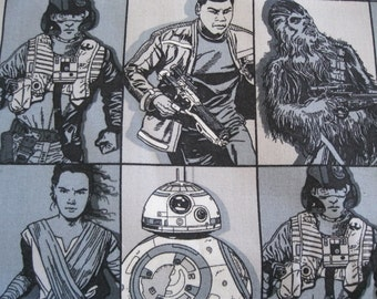 Star Wars Vll Heroine 1 Yard of 100% cotton Fabric