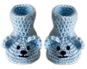 Baby Bear Booties - 3 Sizes - PDF Crochet Pattern - Instant Download