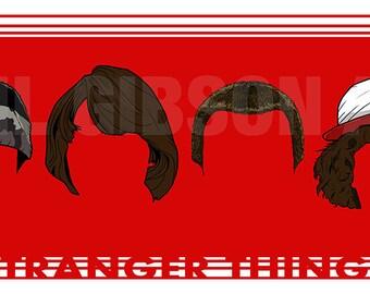 "Original ""The Upside Down"" Stranger Things 10"" x 20"" Art Print Poster"