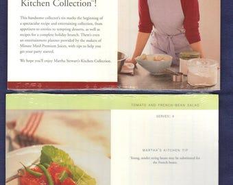Martha Stewart 1997 Kitchen Collection Recipe Cards 2 Pkgs NEW