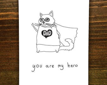 Dad, You Are My Hero - Handmade Card