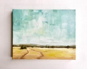 """Summer Fields • original oil painting 8x10"""""""