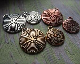 CHOICE of Labyrinth PENDANT, Labyrinth Pendant, Labyrinth,  Pendants, Yoga Jewelry, Symbolic Pendant, Labyrinth