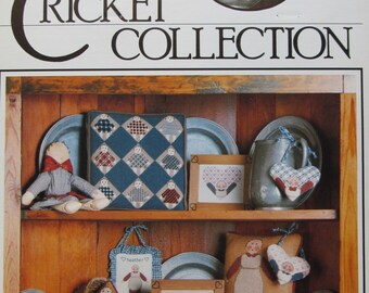 Dolls/Counted Cross Stitch Patterns by The Cross-Eyed Cricket/1985/primitive Dolls/Needlecraft/Wall Hanging/Americana