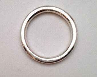 Simple Mens Sterling Silver Wedding Band Vintage Mens Band