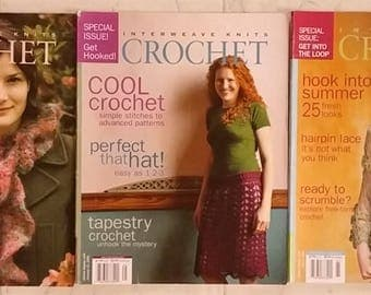 Interweave Knits Crochet Special Issue Magazine Lot of 3 issues: 2004, Fall 2005, Spring 2006