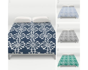Twin XL Duvet - Navy Duvet Cover - Periwinkle duvet cover - Gray duvet cover - queen duvet cover - king duvet cover - full duvet cover