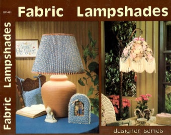 Fabric Lampshades Bubble Fringes Straight Sloped Pleated Chandelier Learn How to Make Customized Shades Craft Pattern Leaflet GP-461