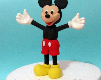 Fondant edible cake topper - Mickey Mouse birthday anniversary boy baby shower