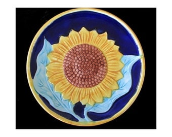 SUNFLOWER Plate * Decorative Plate * Wall Hanging * HALDON GROUP Plate * Kitchen Decor * Japan