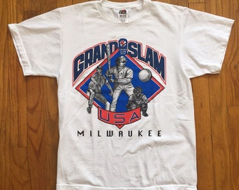 Vintage Grand Slam Milwaukee  baseball t shirt medium