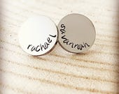 Mothers Day Earrings, Hand Stamped Studs, Personalized Mom, Silver Studs, Gift For Her, Personalized Earrings, Gift For Mothers Day