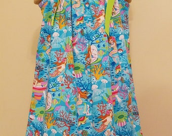 Mermaid Pillowcase Dress, Beach, Nautical, Mermaids, 12 18 24 2 3 4 5 6