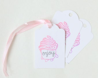 SHOPKINS inspired Party Favour thank you tags - Shopkins, cupcake, shopping theme, shopkins theme party, cupcake theme favour tag