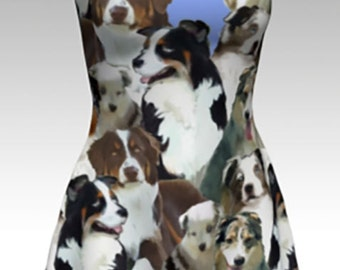 Australian Shepherd Collage dress