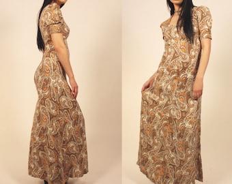 Vintage Paisley Handmade 70's dress