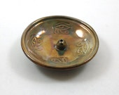RAKU Egyptian Eye of Horus Incense Burner Handmade Ceramic Pottery