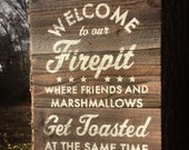 Welcome to our Firepit Cedar Plank Sign 12 x 16- Cedar is weather resistant