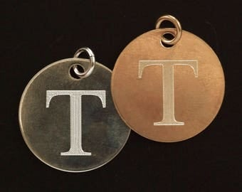 Custom Engraved Copper, Brass, Nickel Silver or Bronze Pendant, Charm or Embellishment with Custom Sentiment