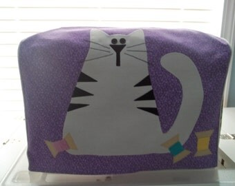 Purple Cat Sewing Machine Cover