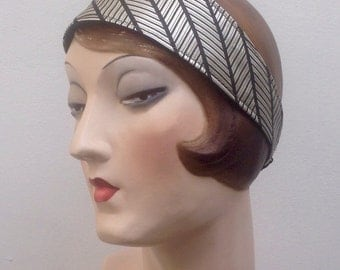 Silk headband. Free shipping in the US. Flapper. Boho. Deco