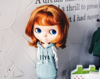 Blythe TTYA logo Hooded-T Mint