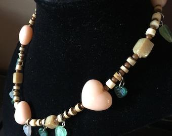 Mori kei forest girl fairy nature necklace beacelet earrings jewelry set butterflies leaves ooak